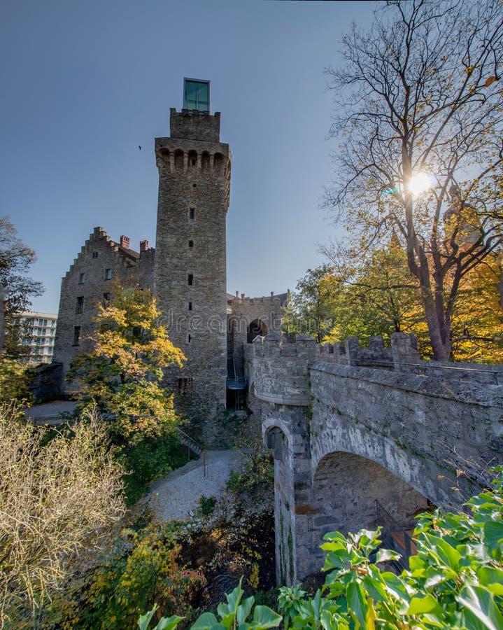 Die alte Stadt von Waidhofen ein der Ybbs im Herbst, Mostviertel, Niederösterreich, Österreich stockfotos