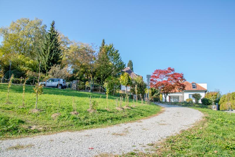 Die alte Stadt von Waidhofen ein der Ybbs im Herbst, Mostviertel, Niederösterreich, Österreich lizenzfreies stockbild