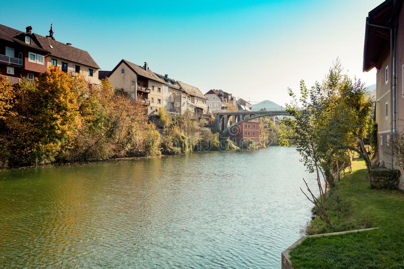 Die alte Stadt von Waidhofen ein der Ybbs im Herbst, Mostviertel, Niederösterreich, Österreich stockbilder