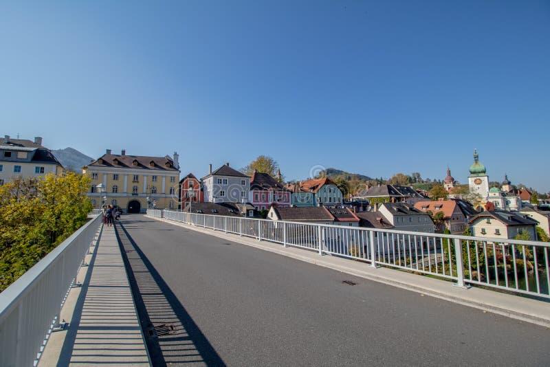 Die alte Stadt von Waidhofen ein der Ybbs im Herbst, Mostviertel, Niederösterreich, Österreich stockfotografie