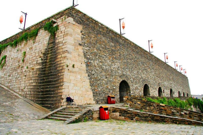 Die alte Stadtmauer von Nanjing lizenzfreie stockbilder