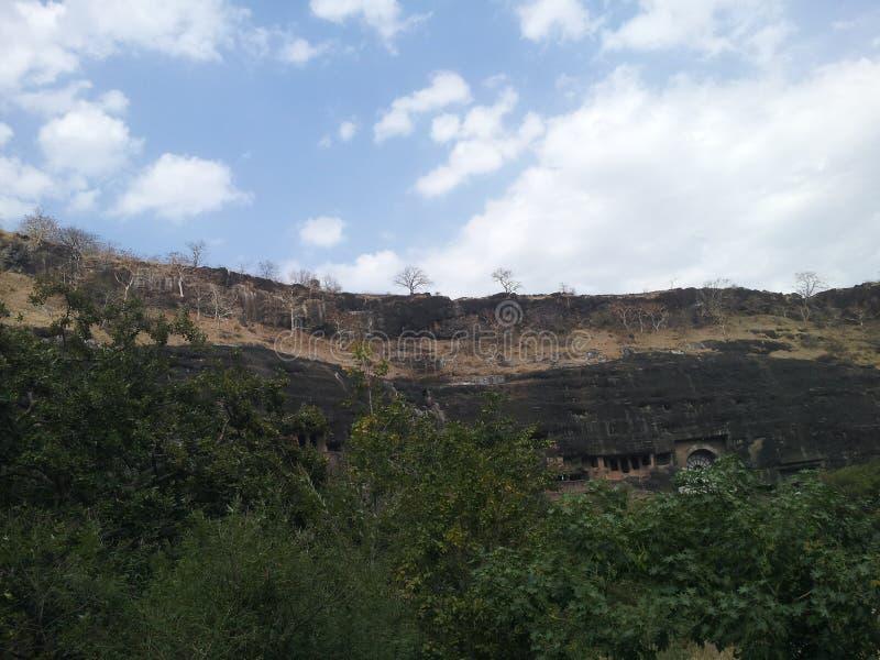Die alten Ajanta-Höhlen lizenzfreie stockfotografie