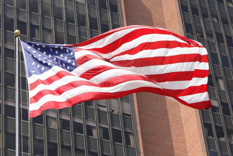 Die amerikanische Flagge lizenzfreies stockfoto