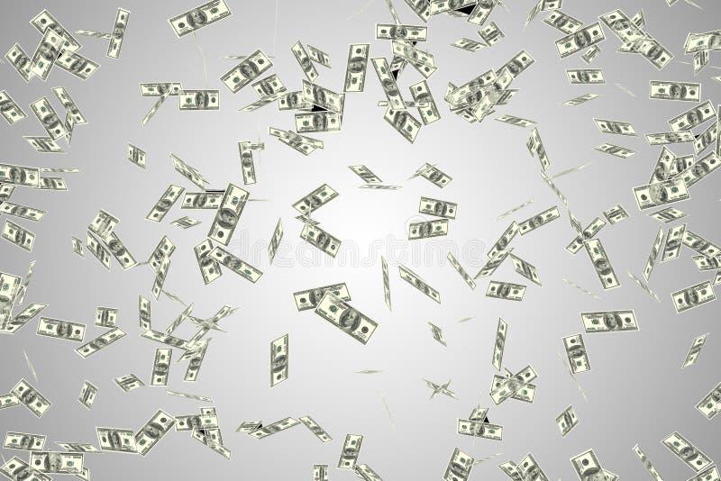 Die amerikanischen Dollar des Fliegens - Wiedergabe 3d lizenzfreie stockfotografie