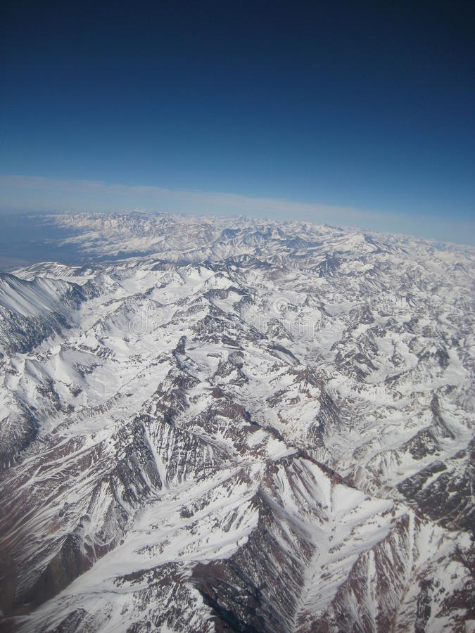 Die Anden-Berge stockfotografie