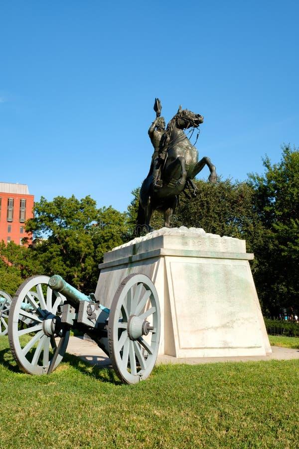 Die Andrew Jackson-Statue an Lafayette-Park in Washington D C lizenzfreie stockbilder
