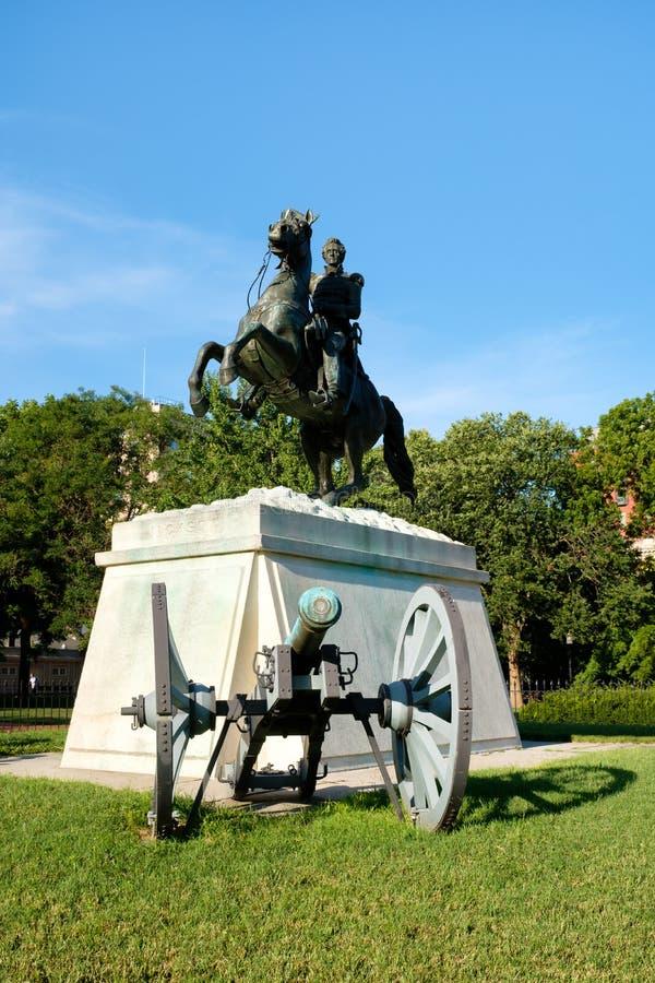 Die Andrew Jackson-Statue an Lafayette-Park in Washington D C stockbilder