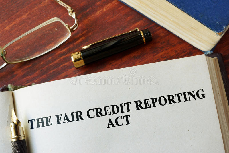 Die angemessene Kredit-Berichts-Tat FCRA lizenzfreie stockfotos