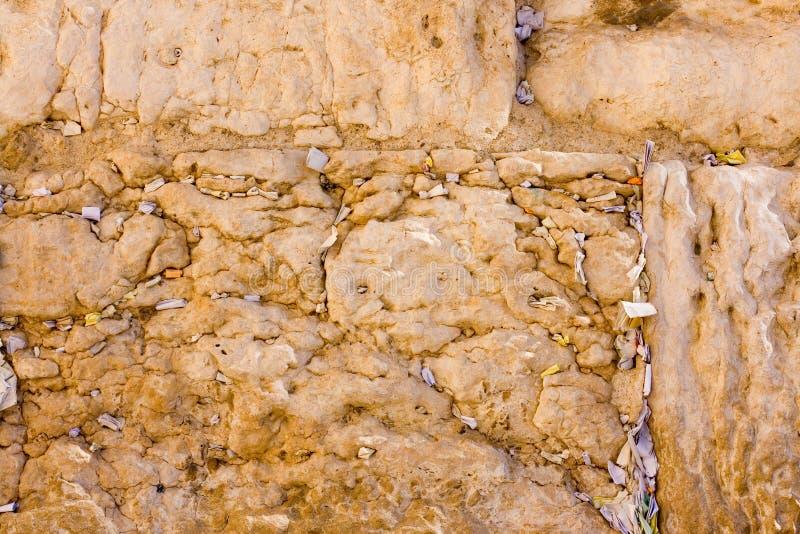 Die Anmerkungen in der Klagemauer. Jerusalem, Israel stockbild