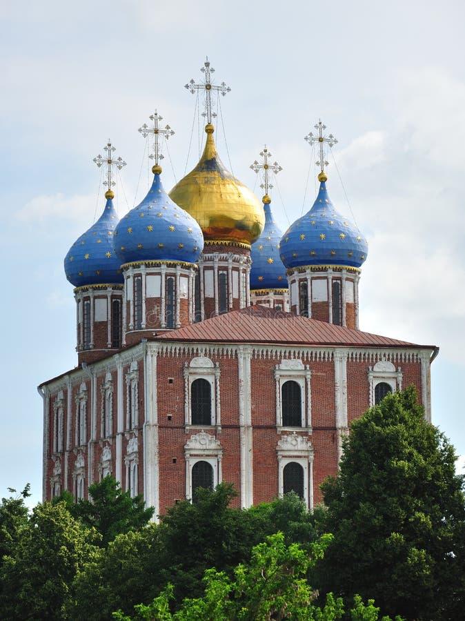Die Annahmekathedrale, Ryazan Kremlin, Russland stockfotografie