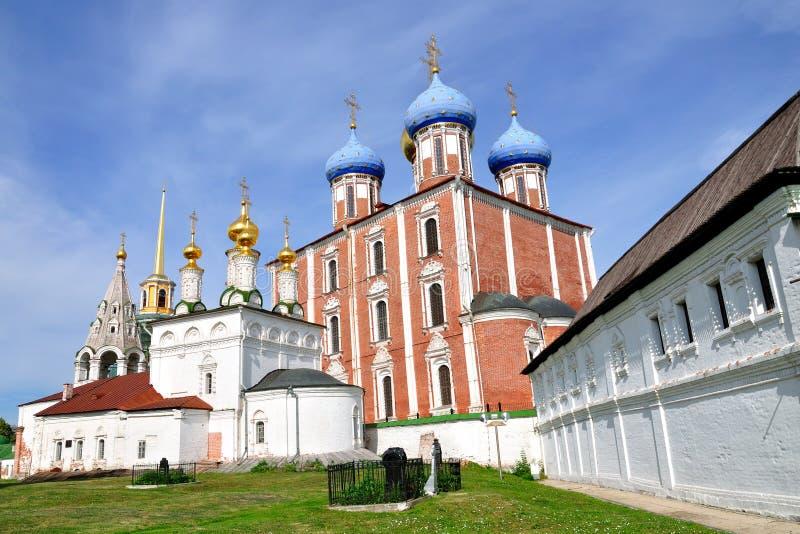 Die Annahmekathedrale, Ryazan Kremlin, Russland stockfoto