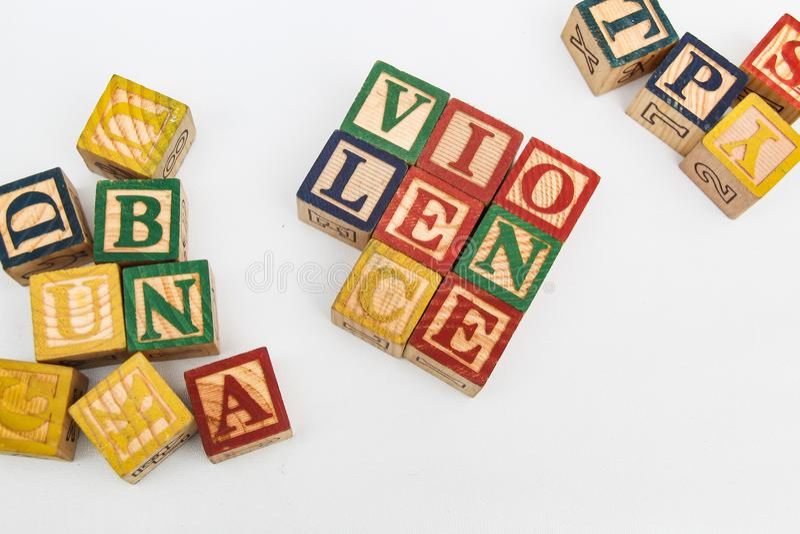 Die Anordnung für Buchstaben bildet ein Wort, Version 45 lizenzfreie stockfotos