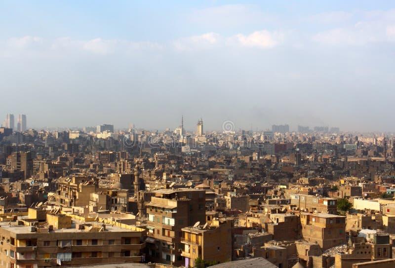 Die Ansicht über Kairo von der Oberseite stockbilder