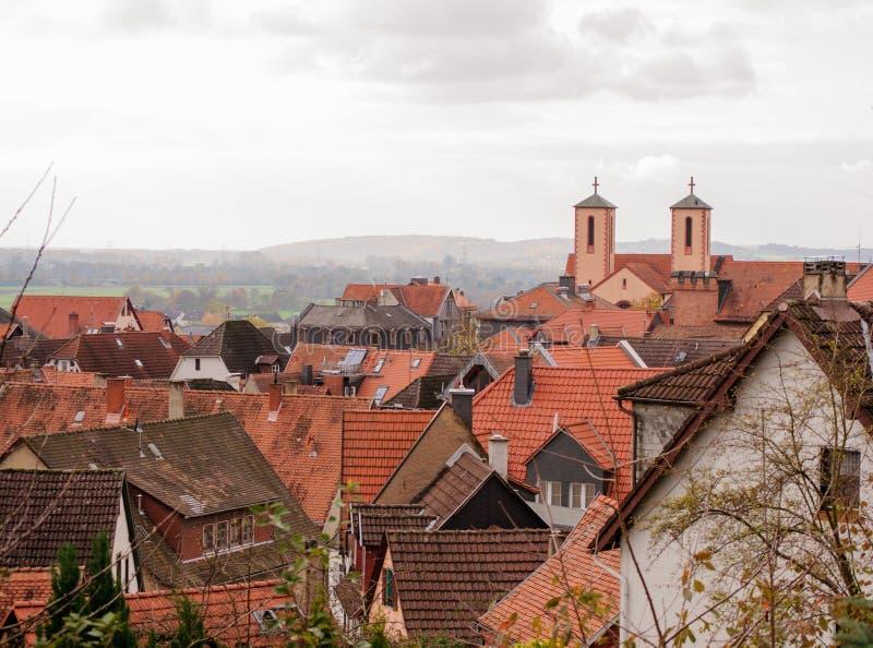 Download Die Ansicht Der Alten Stadt Von Gelnhausen Stockbild - Bild von dach, haus: 106803623