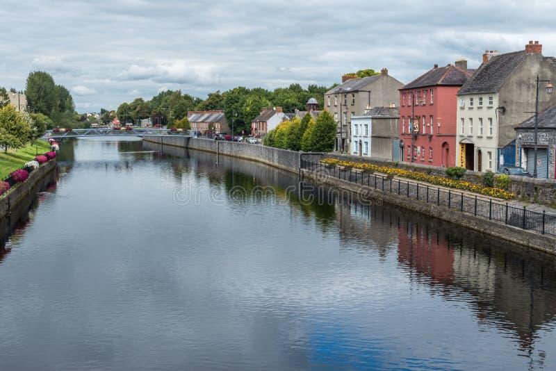Die Ansicht des Flusses Nore in Kilkenny stockbild