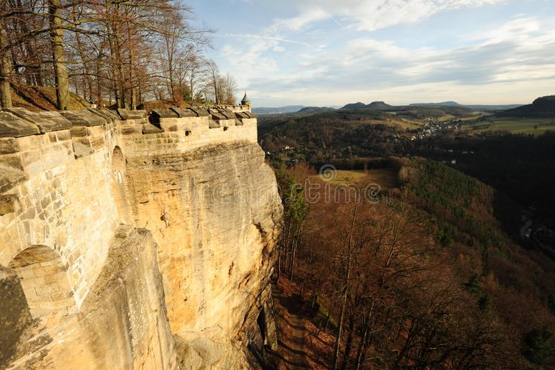Die Ansicht vom Fort stockfotos
