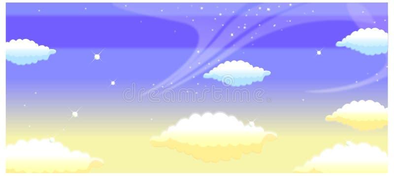 Die Ansicht von Wolken stock abbildung