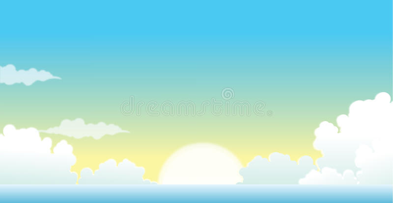 Die Ansicht von Wolken lizenzfreie abbildung