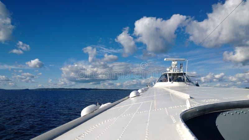 Die Ansicht vorwärts vom Schiffmeteor stockfoto