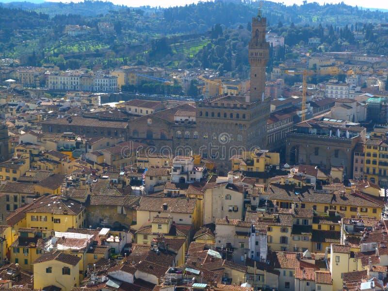 Die Ansichten von Florenz stockbilder