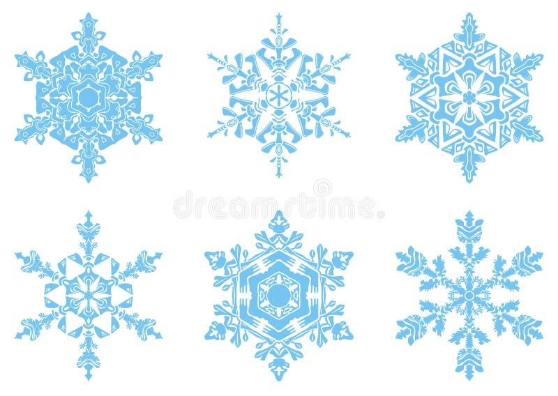 Download Die Anwesenden Schneeflocken Vektor Abbildung - Illustration von schneeflocken, frech: 12203623