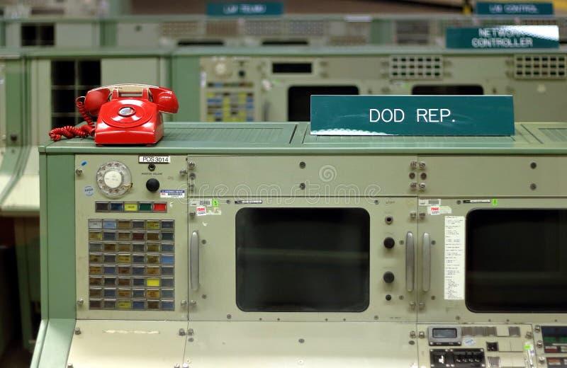 Die Apollo-Ärakontrollstation NASA-Raumfahrtzentrum in Houston, Texas stockfoto