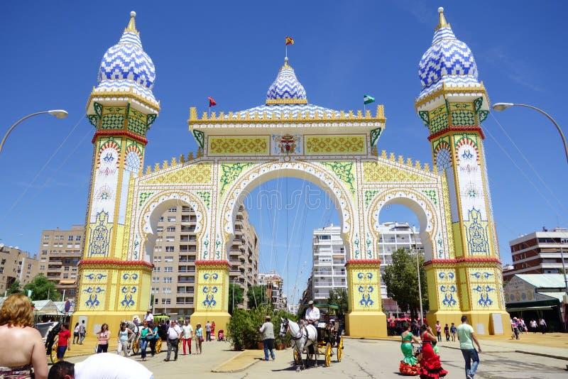 Die April-Messe von Sevilla lizenzfreies stockbild
