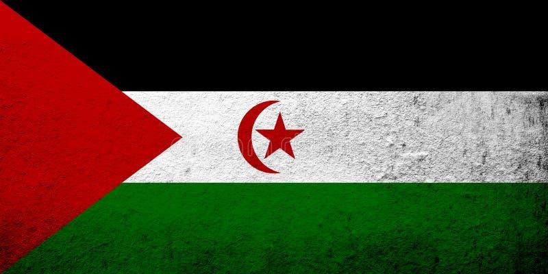 Die arabische demokratische Republik-Westsahara-Staatsflagge Sahrawi Kann als Postkarte verwendet werden lizenzfreie abbildung
