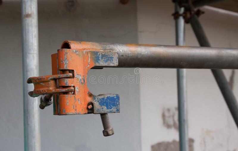 Die Arbeitswelt: Baugerüst lizenzfreies stockfoto