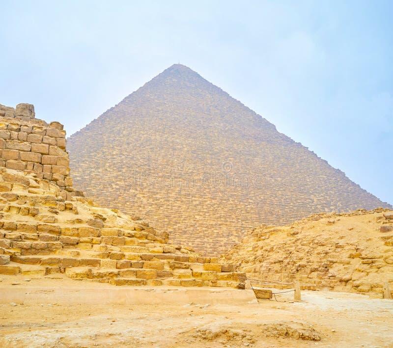 Die archäologische Fundstätte von Giseh, Ägypten lizenzfreies stockbild