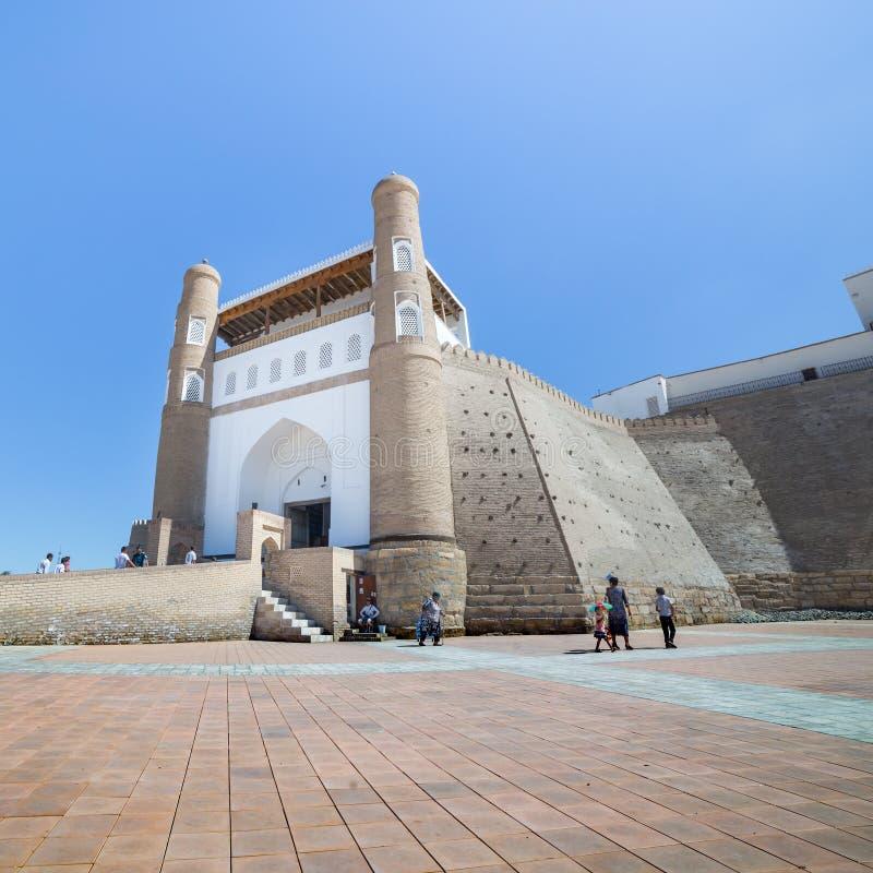 Die Archefestung von Bukhara, in Usbekistan stockfoto