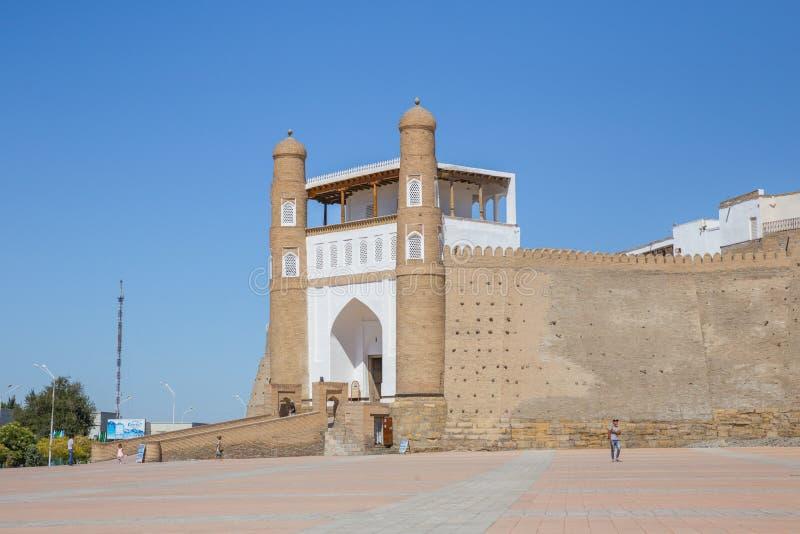 Die Archefestung von Bukhara, in Usbekistan stockbild
