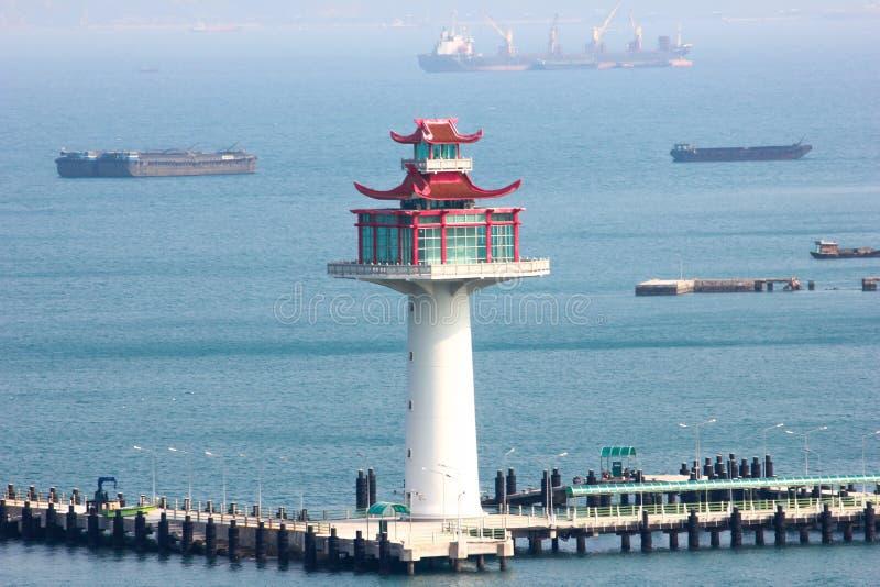 Die Architektenmitte das Meer stockbild