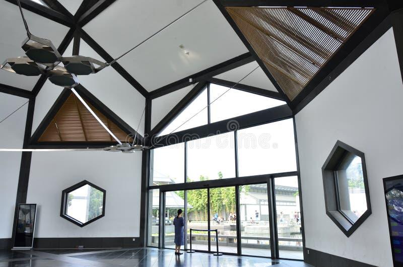 Die Architektur von Suzhou-Museum in Suzhou, China lizenzfreies stockbild