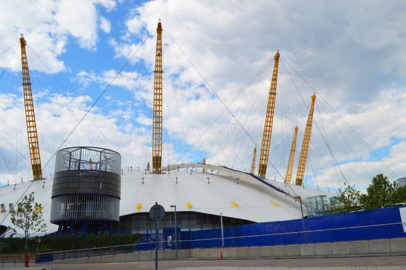 Die Arena O2 in London stockbild