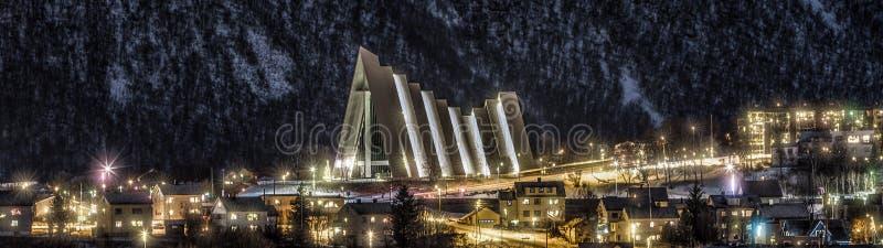 Die arktische Kathedrale, Tromso stockfotos