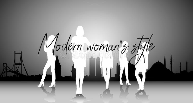 Die Art der modernen Frau vektor abbildung