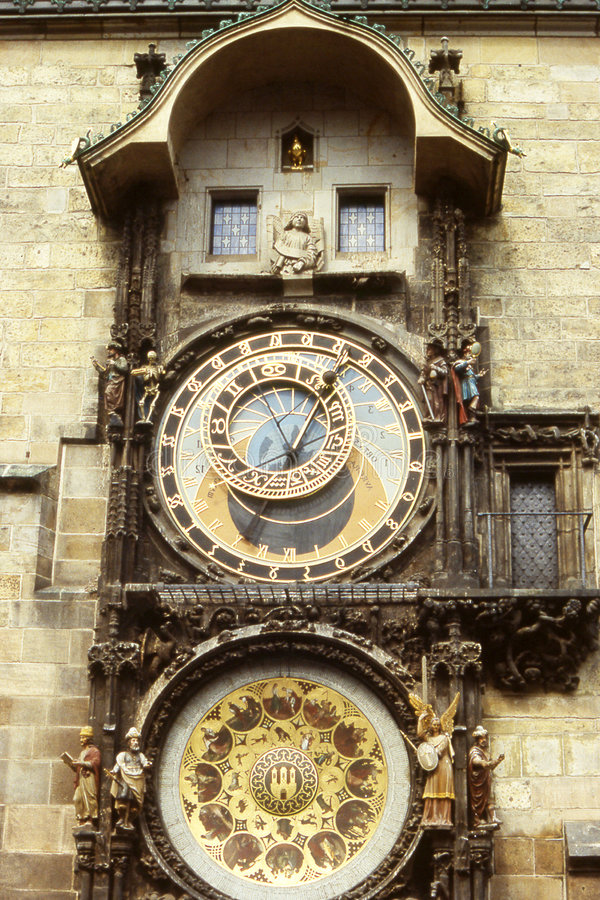 Die astronomische Borduhr in Prag stockfoto