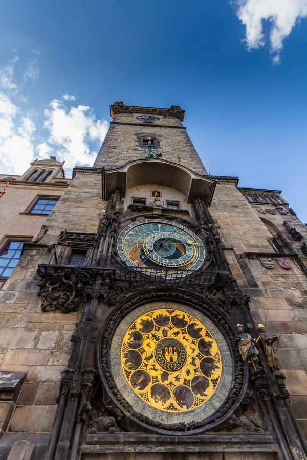 Die astronomische Uhr Prags oder Prag-orloj, ist eine mittelalterliche astronomische Uhr, die in Prag, die Hauptstadt des tschech lizenzfreies stockfoto
