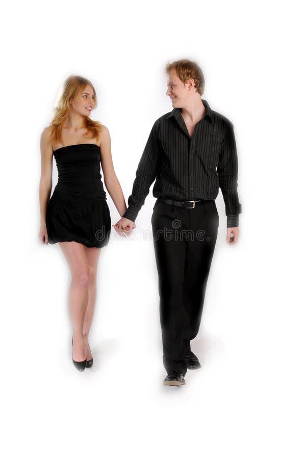 Die attraktiven jungen Paare lizenzfreies stockfoto