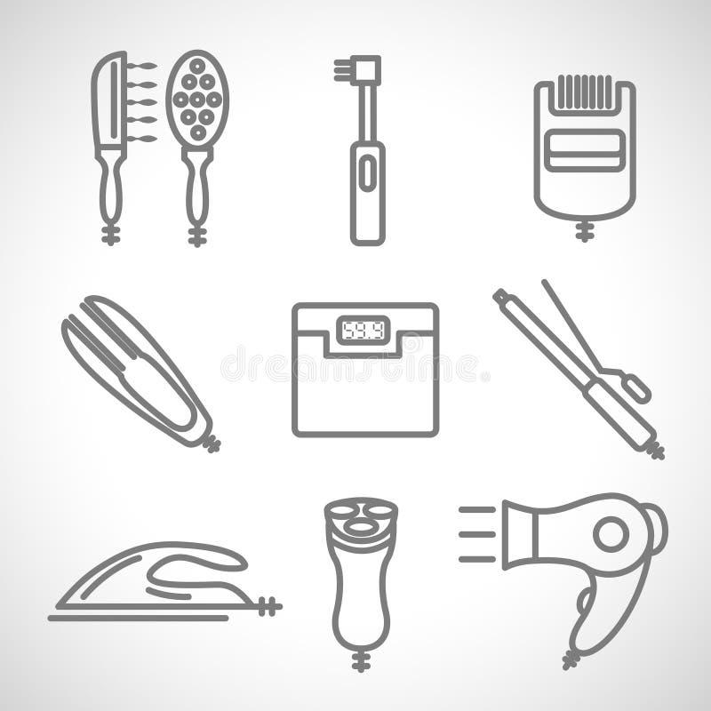 Die Auffrischungsikonengeräte zeichnen Werkzeuge auf weißem Hintergrund lizenzfreies stockbild