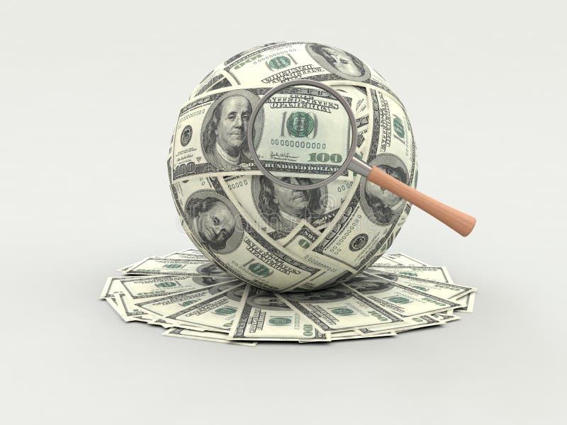 Die Aufmerksamkeit zum Geld vektor abbildung