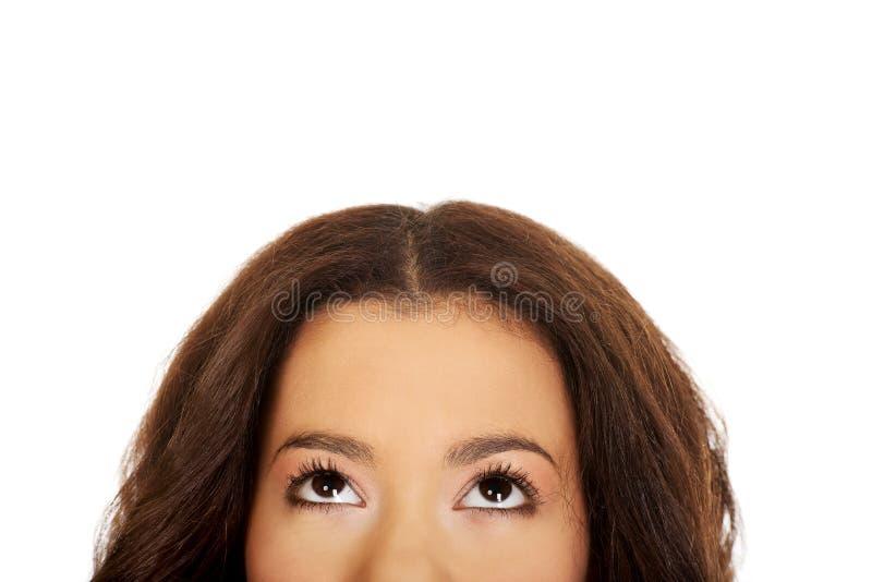 Die Augen der Afrikanerin lizenzfreie stockbilder