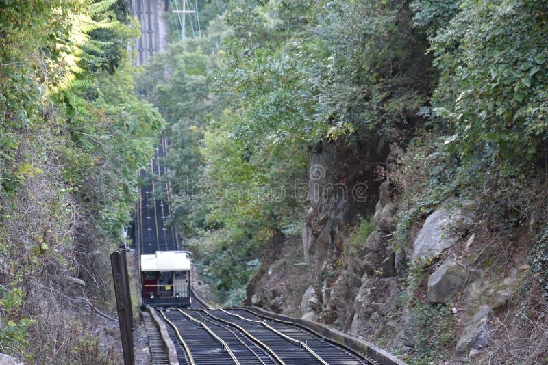 Die Ausblick-Gebirgsneigungs-Eisenbahn in Chattanooga, Tennessee lizenzfreies stockfoto
