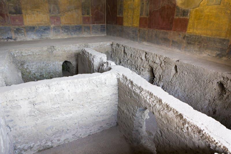 Die ausgegrabenen Ruinen vom Haus von Menander lizenzfreie stockfotos