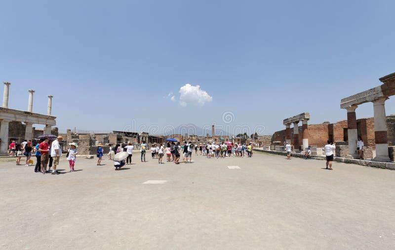 Die ausgegrabenen Ruinen von Pompeji-Stadt lizenzfreies stockfoto
