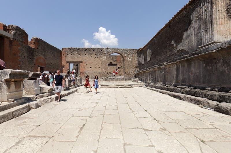 Die ausgegrabenen Ruinen von Pompeji-Stadt stockfoto