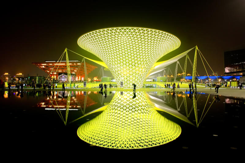Die Ausstellungs-Prachtstraße an der Weltausstellung in Shanghai stockfoto