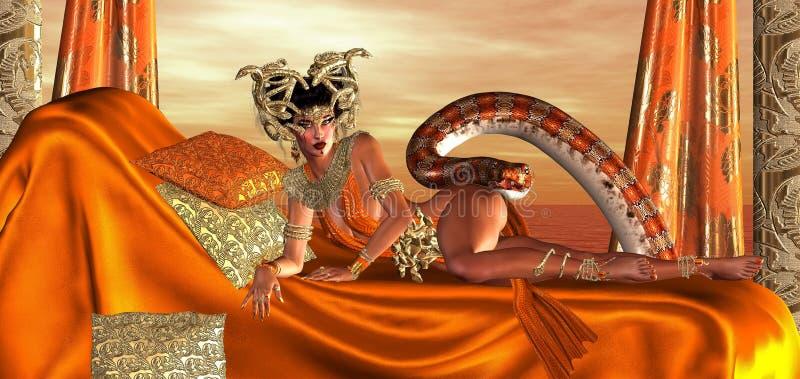 Die Avantgarde der heiligen Schlangen vektor abbildung