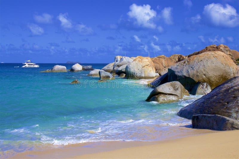 Die Bäder in Virgin Gorda, Karibische Meere stockbild